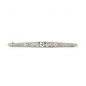 Platinum Old Cut Diamond Brooch 3.25ct